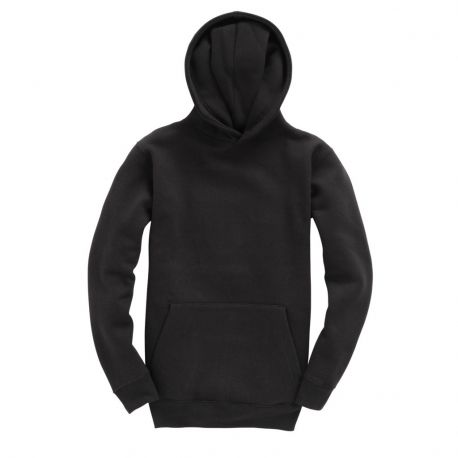Sweat-shirt uni enfant, doux au touché avec capuche doublée, 310 g/m²