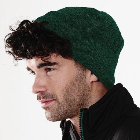 Bonnet acrylique avec rabat, maille doublée, doublure en thinsulate