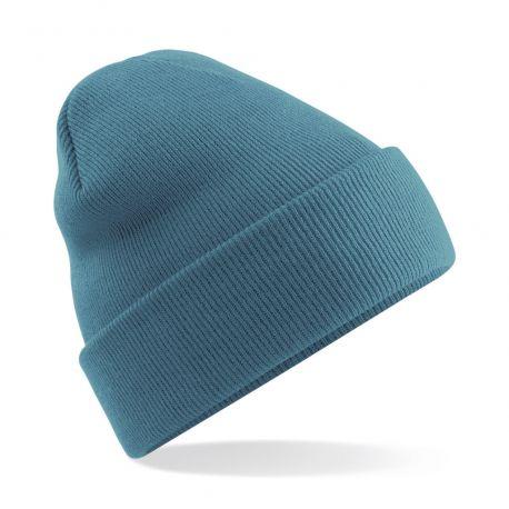 Bonnet acrylique avec rabat, maille doublée
