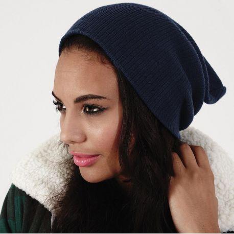 Bonnet long en acrylique Soft-Touch doublé