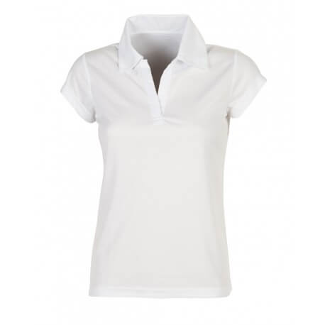 Polo sport respirant femme polyester, manches courtes, 140 g/m²