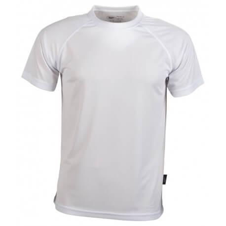 T-shirt sport respirant enfant polyester, manches courtes, 140 g/m²