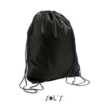 Sac à dos avec ficelles ajustables et œillets renforcés, 100% polyester