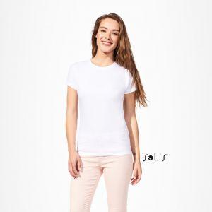 T-shirt femme col rond, pour la sublimation, 160 g/m²