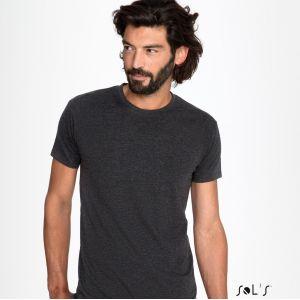 T-shirt homme col rond, coupe ajustée, 100% coton jersey, 150 g/m²