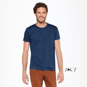 T-shirt homme col rond, coupe ajustée, 100% coton, 190 g/m²