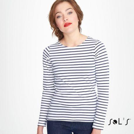 T-shirt femme marinière a73fadf139f