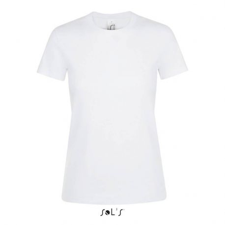 T-shirt femme col rond, 100% coton jersey, 150 g/m²