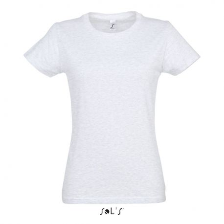 T-shirt femme col rond, 100% coton jersey, 190 g/m²