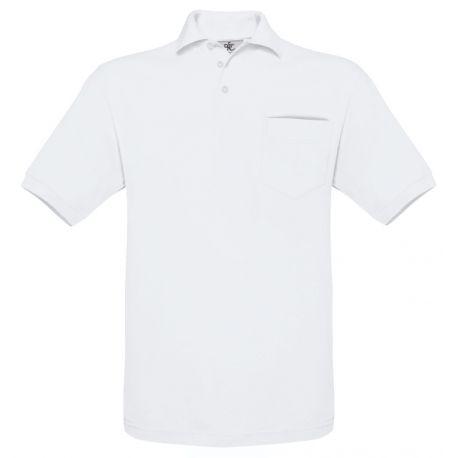 Polo safran avec poche sur la poitrine en maille fine piquée, 180 g/m²