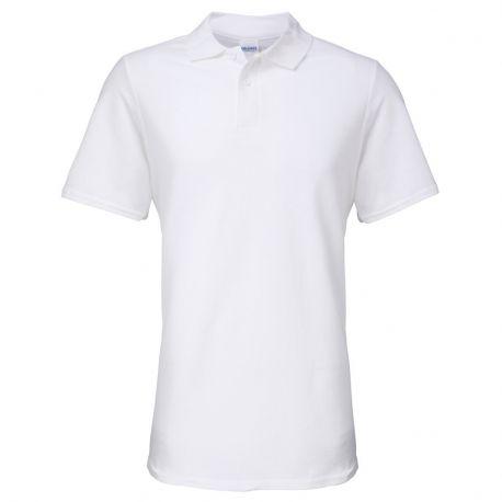 Polo double piqué homme 100% coton pas cher, 180 g/m²