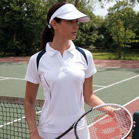 Polo de sport femme bicolore respirant Cool Dry, 145 g/m²
