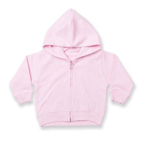 Sweat bébé à capuche zippé avec 2 poches latérales, 280 g/m²
