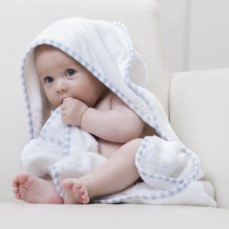 Serviette de bain bébé avec capuche en coton, 420 g/m²