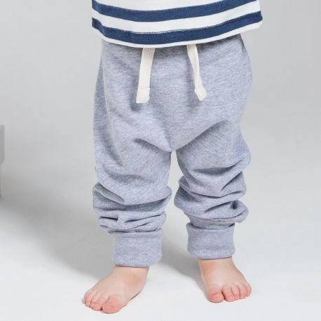 Pantalon jogging bébé ample et chaud, polaire à l'intérieur