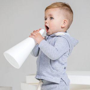 Sweat-shirt bébé à capuche doux, étiquette détachable, 250 g/m²