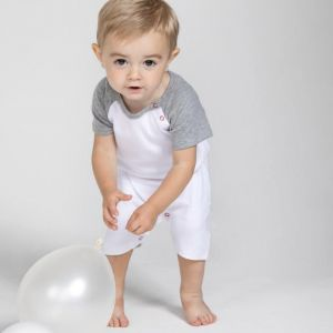Body d'été pour bébé en coton bio, manches courtes, 200 g/m²