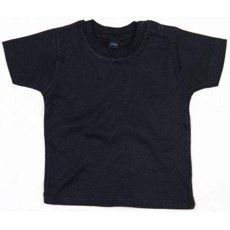 T-shirt bébé coton extensible et doux avec boutons-pression, 200 g/m²