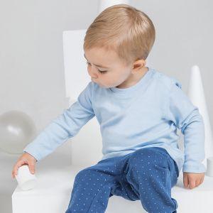 T-shirt bébé à manches longues en coton doux, 200 g/m²