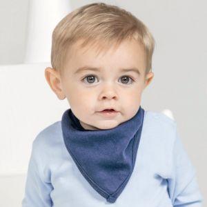 Bandana pour bébé en coton doux et extensible, 200 g/m²