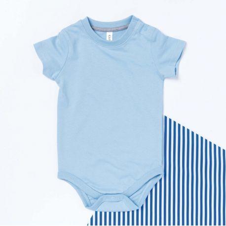 Body manches courtes bébé en coton jersey, 180 g/m²