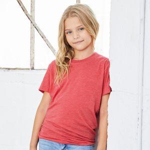 T-shirt enfant triblend ultradoux à manches courtes, 130 g/m²
