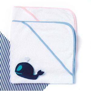 Serviette de bain bébé en coton avec capuche, 400 g/m²