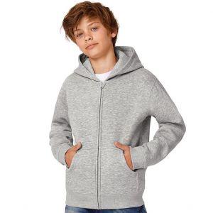 Sweat hoodie à zip enfant bien coupé idéal pour les impressions, 280 g/m²