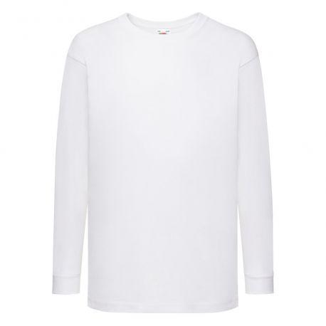T-shirt enfant manches longues en coton idéal pour une impression, 165 g/m²