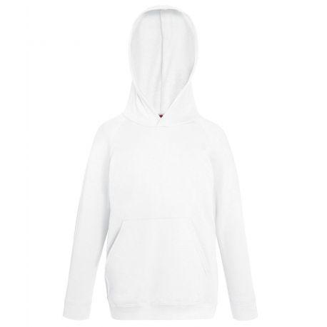 Sweat hoodie enfant à capuche léger et pas cher en polycoton, 240 g/m²