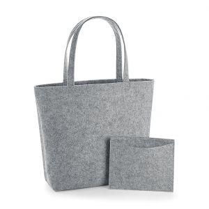 Cabas en feutre avec poche intérieure amovible, 100% polyester