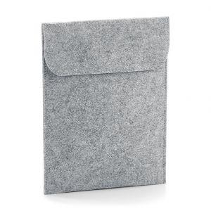 Etui pour tablette iPad en feutre, avec rabat, 100% polyester