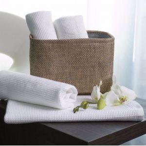 Serviette de bain piqué gaufrée de qualité Hôtel, 280 g/m²