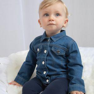 Veste en jean bébé en coton bio avec boutons-pression