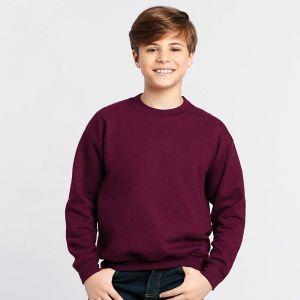 Sweat-shirt manches droites enfant col rond en polycoton, 280 g/m²