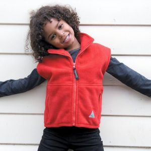 Gilet polaire chaud pour enfant anti-bouloche sans manches, 330 g/m²