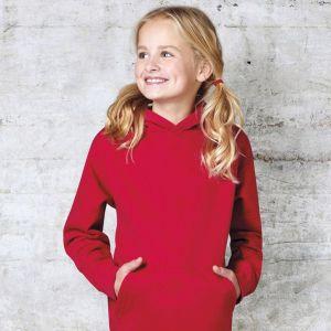 Sweat-shirt enfant à capuche doublée en polycoton, 300 g/m²