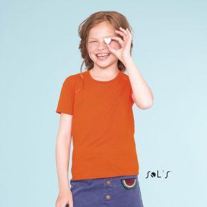 T-shirt enfant manches courtes, 100% coton bio, 155 g/m²