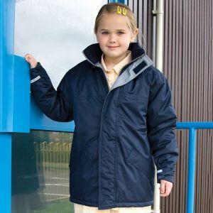 Parka d'hiver pour enfant avec col remonté à doublure polaire