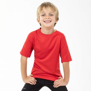T-shirt sport enfant stretch en maille filet doux séchant à l'air