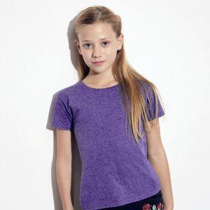 T-shirt fille iconic en coton doux, étiquette détachable, 150 g/m²