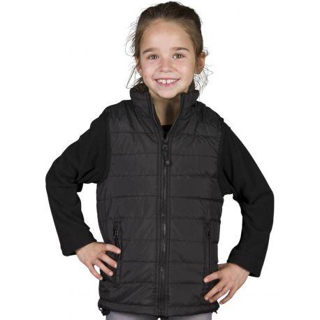 Bodywarmer tendance enfant déperlant et coupe-vent