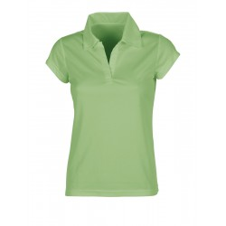 [PROMO] Polo sport respirant femme polyester, manches courtes, 140 g/m²