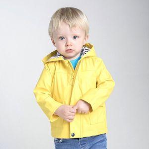 Veste de pluie bébé zippée à capuche avec 2 poches latérales