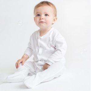 Pyjama bébé en coton à boutons-pression, 200 g/m²
