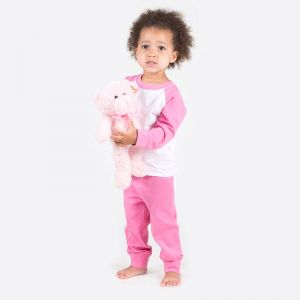 Pyjama bébé bicolore style baseball à manches longues