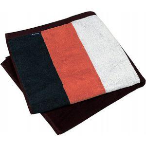 Drap de plage à rayures en coton velours, 400 g/m²