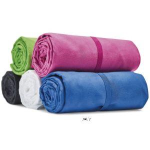 Serviette microfibre, élastique pour plier la serviette, 190 g/m²