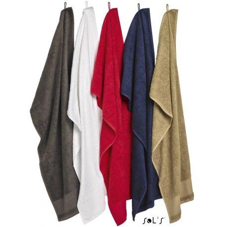 Serviette et drap de bain en coton idéal à personnaliser, 500 g/m²
