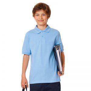 [PROMO] Polo safran enfant en coton ringspun peigné, 180 g/m²